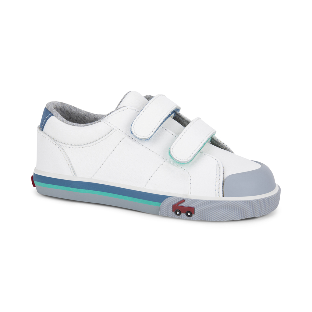 See Kai Run See Kai Run Waylon Leather - White