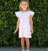 Smiling Button Seahorse Flutter Dress