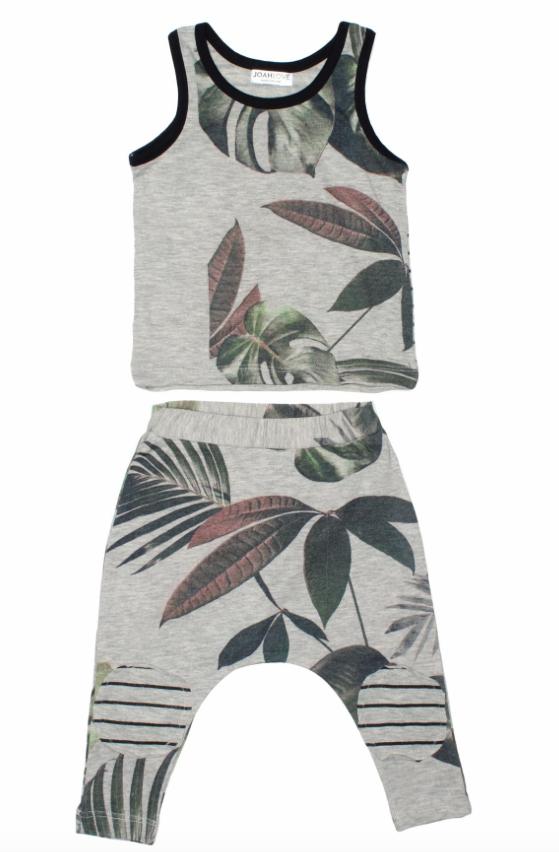 Joah Love Mav Palm Tank and  Pants Set