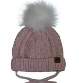 Cali Kids Cotton Knit Faux Fur Pom Pom Hat *3 colors*
