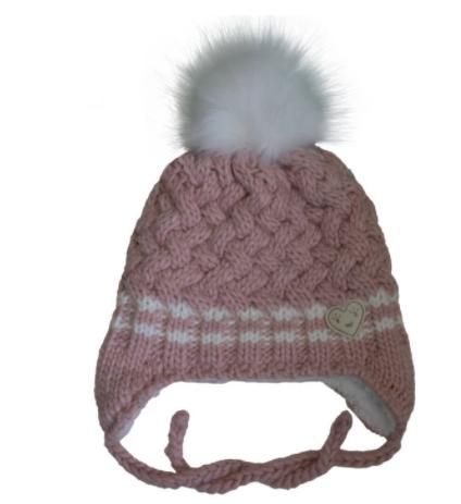 Cali Kids Knit Heart Winter Hat