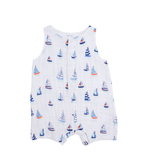 Angel Dear Angel Dear Nautical Boats Shortie Romper