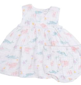 Angel Dear Angel Dear Pretty Ocean Kimono Dress and Diaper Cover