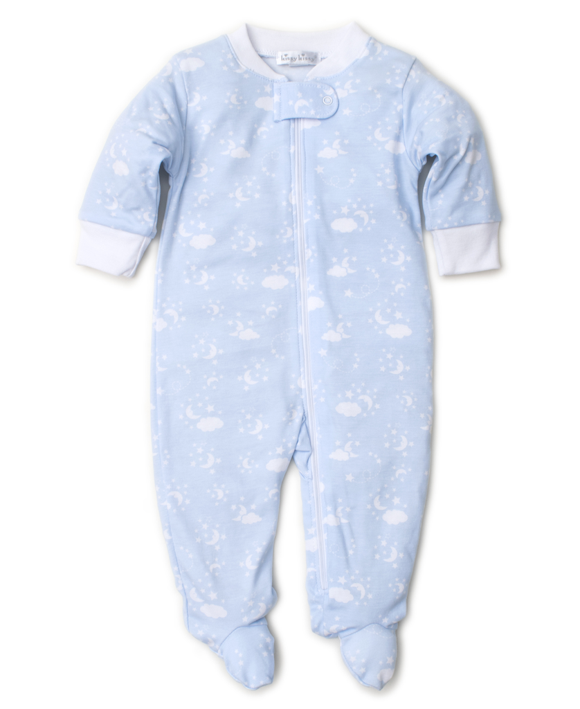 kissy kissy Kissy Kissy Man in the Moon Print Footie with Zipper *more colors*