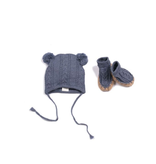 Egg Egg Quinn Cable Hat and Bootie Set