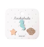 Rockahula Sylvia Seahorse Ring Set