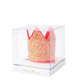 Meri Meri Meri Meri Mini Pink Glitter Crown Hair Clip