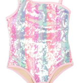 Shade Critters Shade Critters Full Sequin Pink One Piece