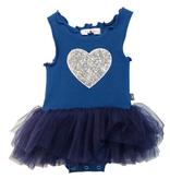 Petite Hailey Petite Hailey Baby Tutu Dress with Heart - Blue