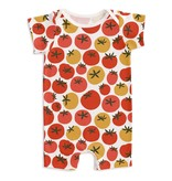 Winter Water Factory Winter Water Factory Summer Romper - Tomatoes Red & Yellow