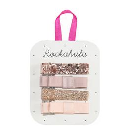 Rockahula Rose Gold Sparkle Bar Clips