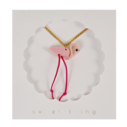 Meri Meri Meri Meri Flamingo Necklace