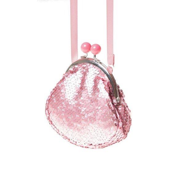 Rockahula Retro Sequin Frame Bag Pink