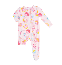 Angel Dear Angel Dear Donuts Ruffle Front Zipper Footie