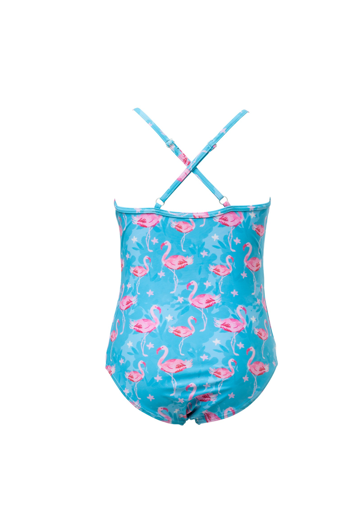 Snapper Rock Snapper Rock Blue Flamingo X Back Swimsuiti UV50+