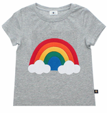 Petite Hailey Petite Hailey Rainbow T-Shirt - Gray