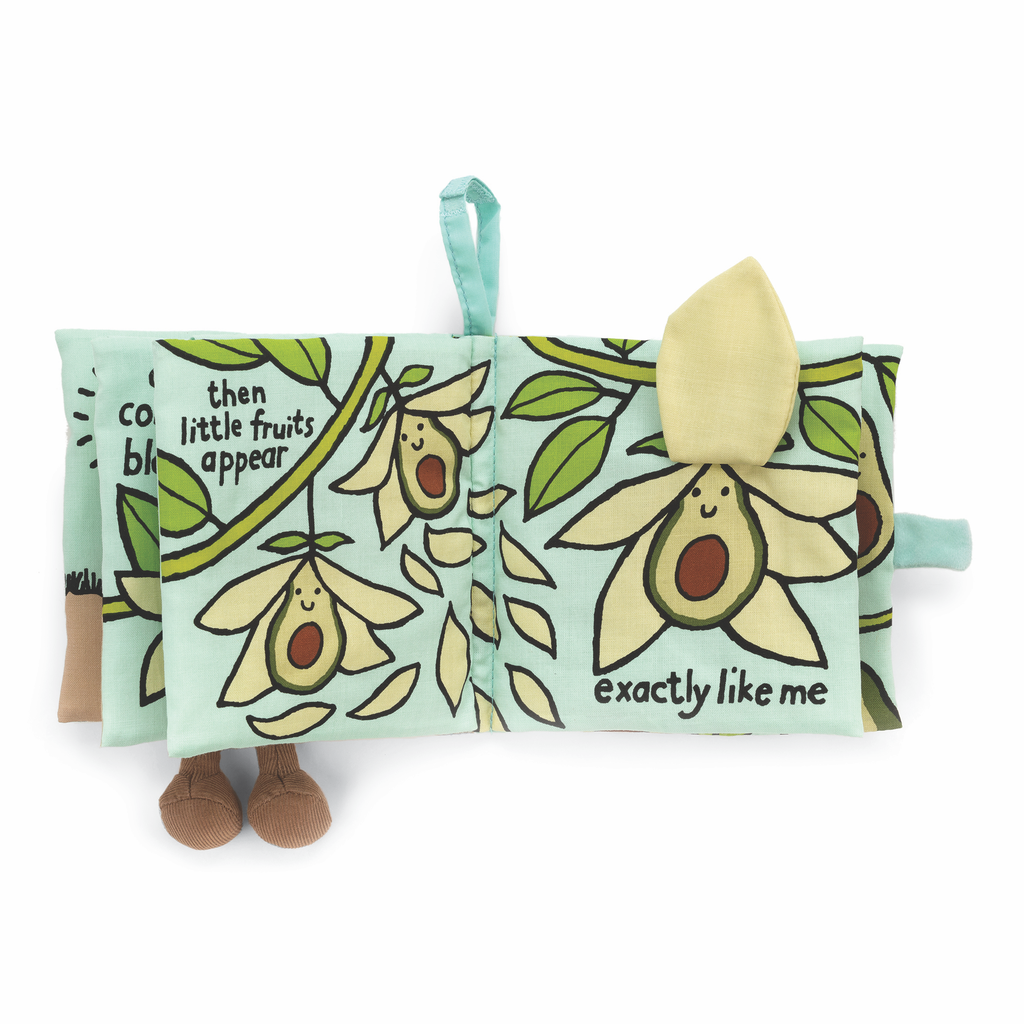 JellyCat Jelly Cat I Am Avocado Fabric Activity Book