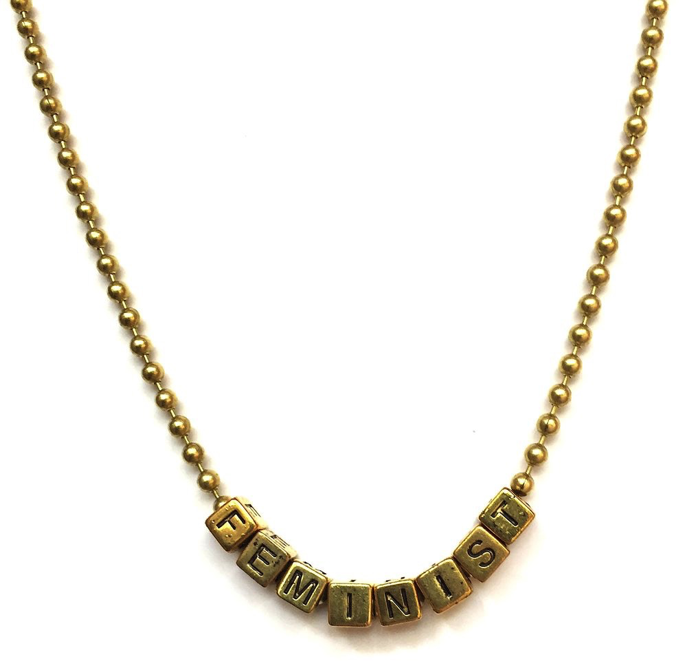 Little Lux Little Lux Feminist Necklace Collaboration with Diana Kane