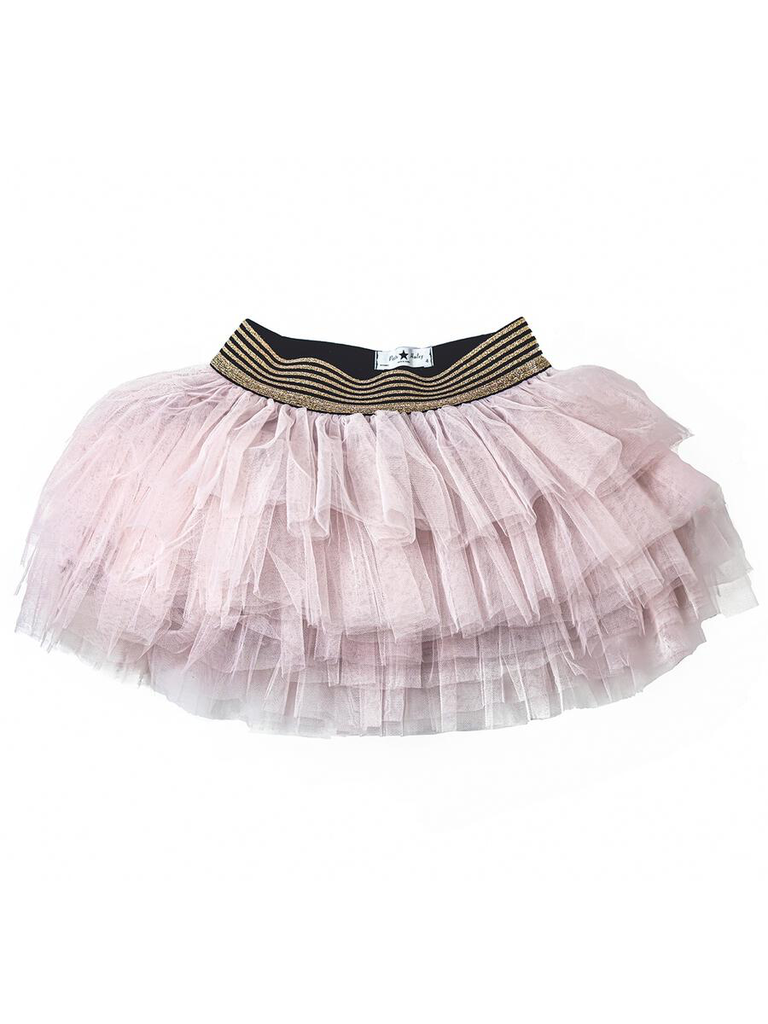 Petite Hailey Petite Hailey Layered Tutu Skirt - Pink
