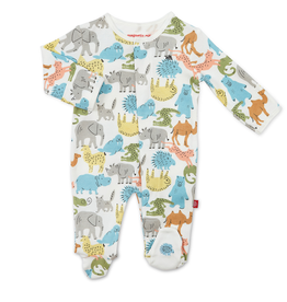 Magnificent Baby Magnificent Baby Zoo Crew Organic Cotton Footie