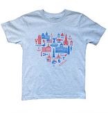 Sidetrack Sidetrack Boston Icons Short Sleeve Tee  Shirt