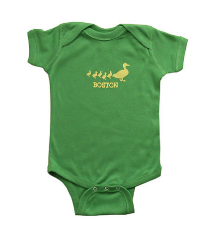 Sidetrack Sidetrack Short Sleeve Green Ducklings Bodysuit