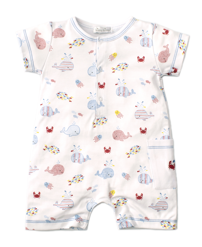 kissy kissy Kissy Kissy Whale of a Time Short Playsuit