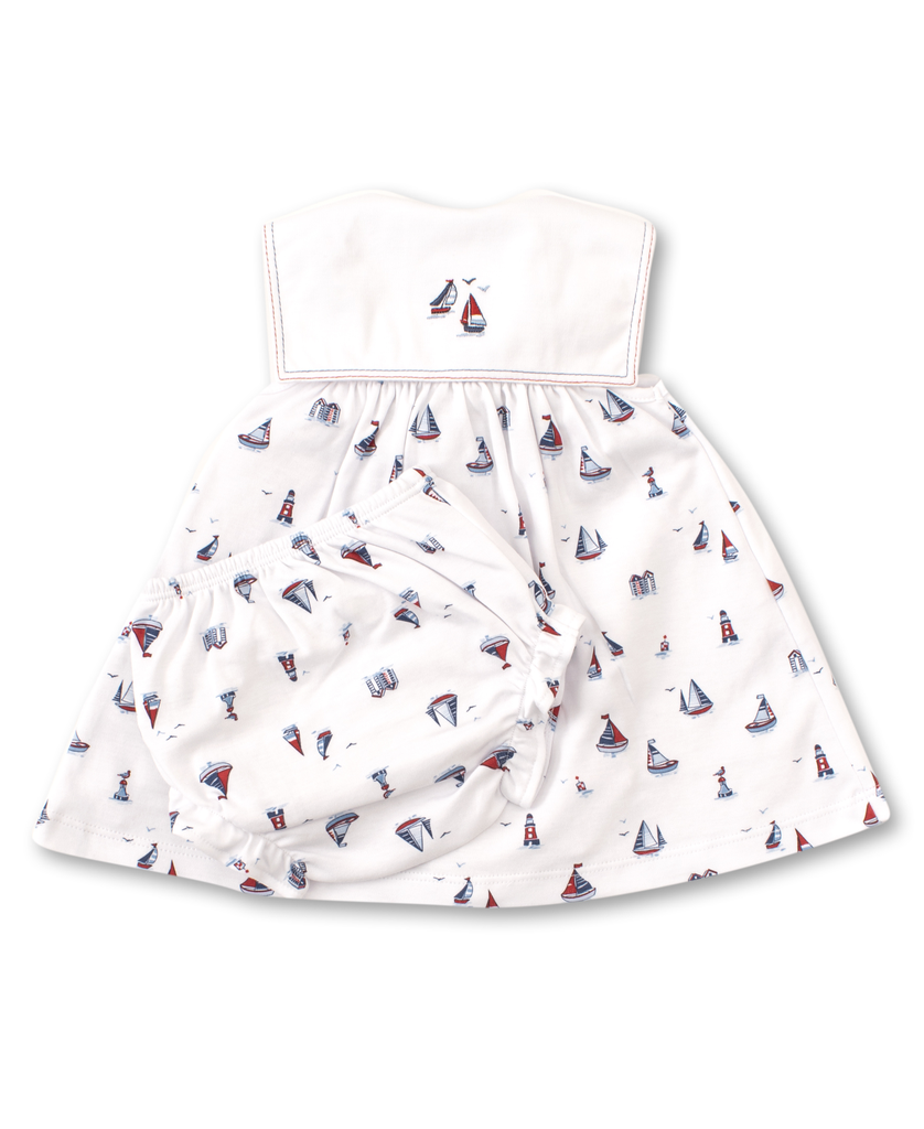 kissy kissy Kissy Kissy Seaside Surprise Dress with Diaper Cover