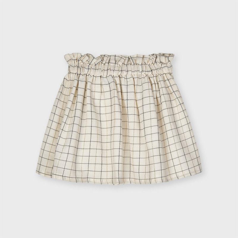 Mayoral Mayoral Plaid Lurex Skirt