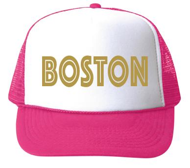 bubu Boston Baseball Hat-Gold Foil