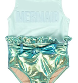 Shade Critters Shade Critters Metallic Mint Mermaid One Piece