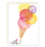 Elephant Scoops Birthday Card