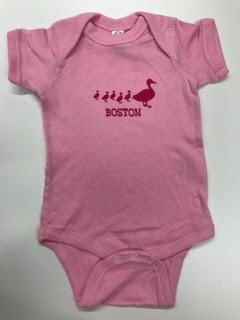 Sidetrack Sidetrack Short Sleeve Pink Boston Ducklings Bodysuit