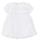 kissy kissy Kissy Kissy Special Occasions Dress with Hand Embroidery and Diaper Cover