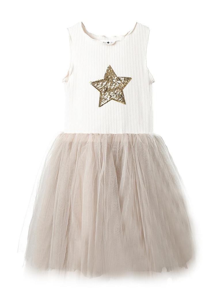 Petite Hailey Petite Hailey Star Tutu Dress - Beige