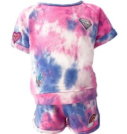 Lola & the Boys Lola & the Boys Tie Dye Patch Short Set