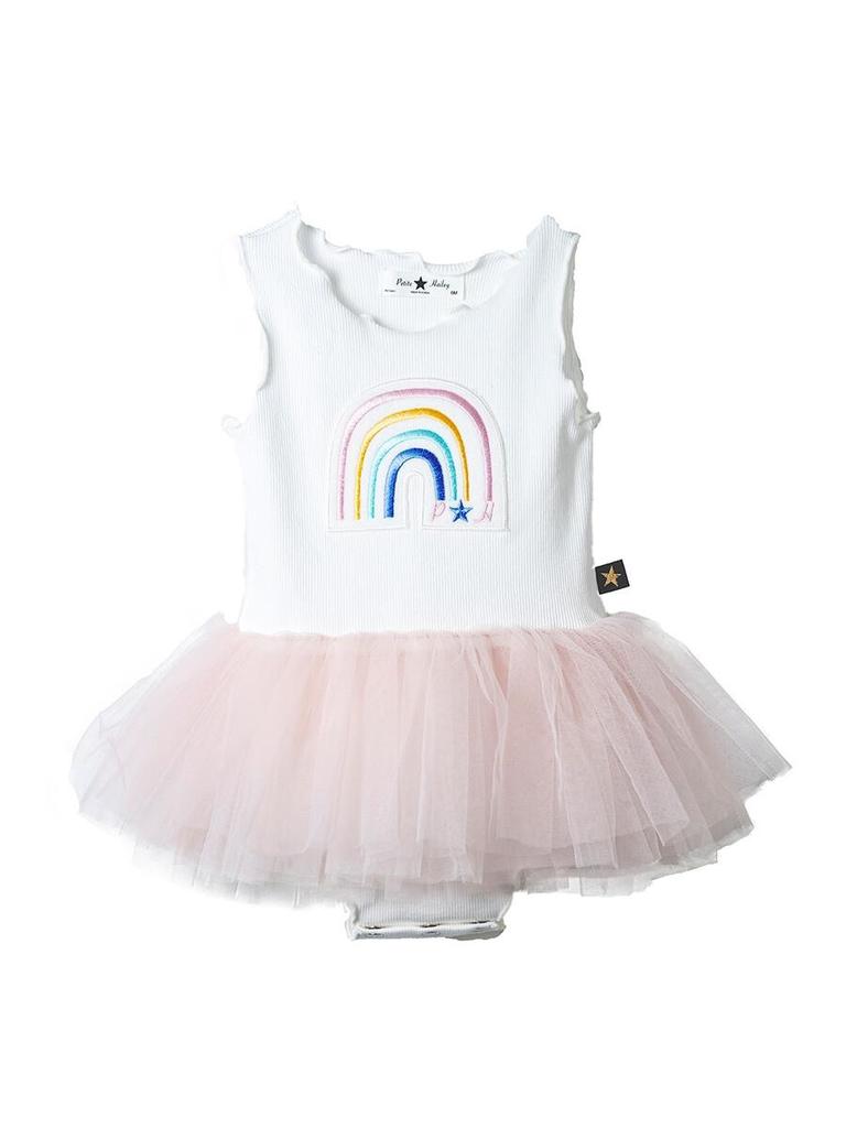 Petite Hailey Petite Hailey Rainbow Baby Onesie Tutu