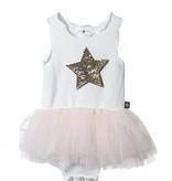 Petite Hailey Petite Hailey Star Baby Tutu Onesie  Pink
