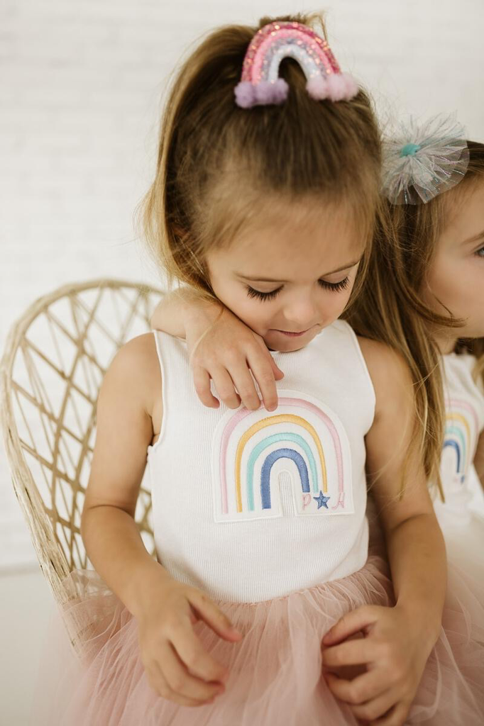 Petite Hailey Petite Hailey Rainbow Tutu Dress
