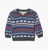Hatley Hatley Faire Isle Polar Bear V-Neck Sweater