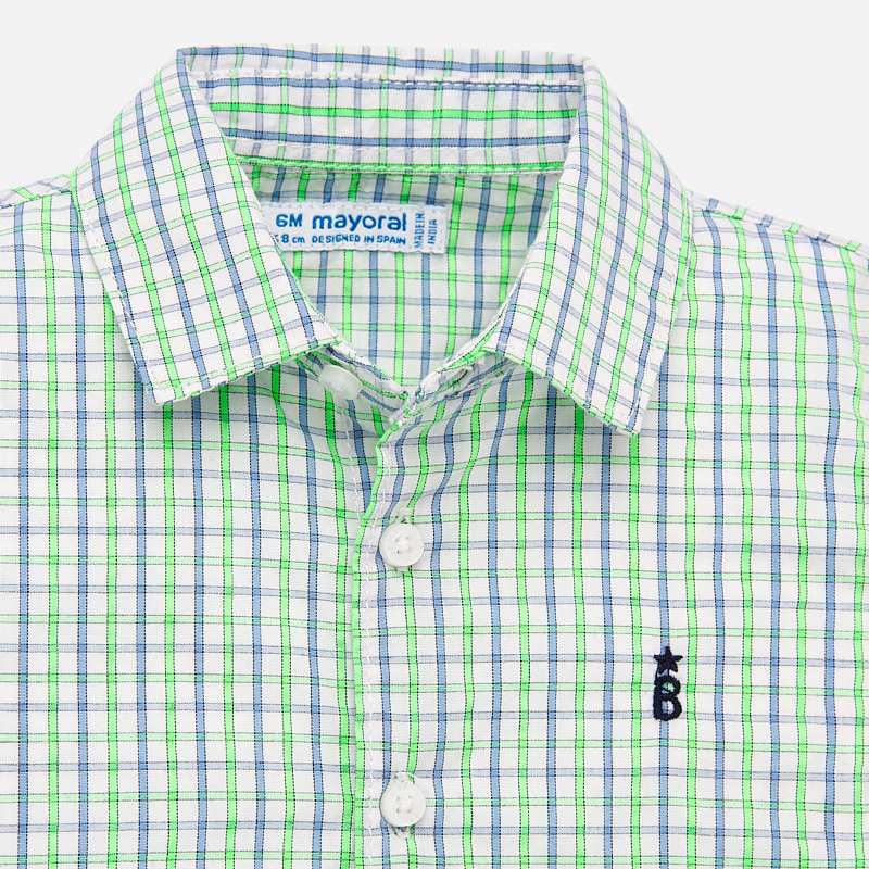Mayoral Mayoral Neon Short Sleeve Button Down