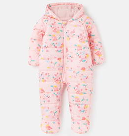 Joules Joules Snuggle Padded Pramsuit - Pink