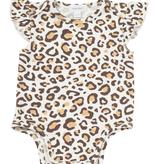 Angel Dear Angel Dear Leopard Print Ruffle Sleeve Onesie