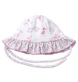 kissy kissy Kissy Kissy Flowering Flamingos Reversible Floppy Hat