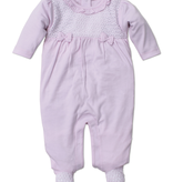 kissy kissy Kissy Kissy Touch of Elegance Footie with Knit Details