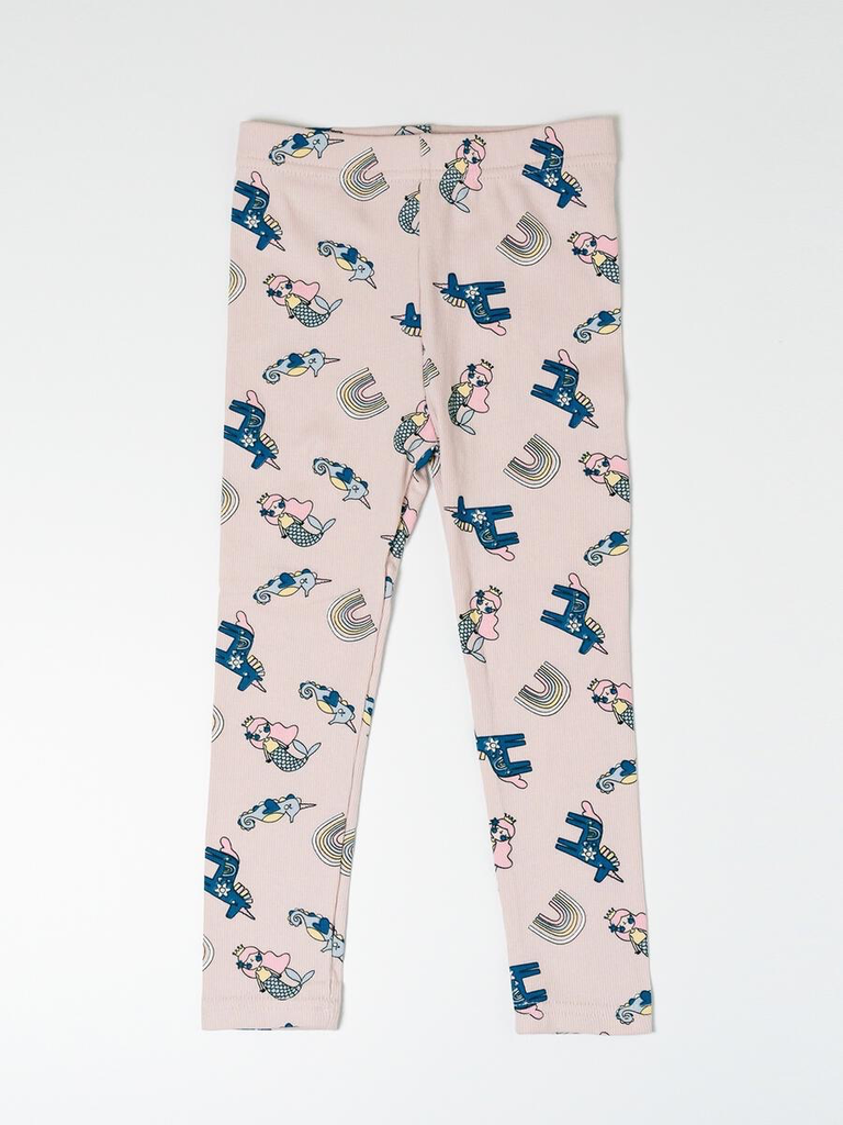 Petite Hailey Petite Hailey Multi Mermaid Legging Pink