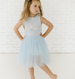 Petite Hailey Petite Hailey Star Tutu Dress - Sky Blue