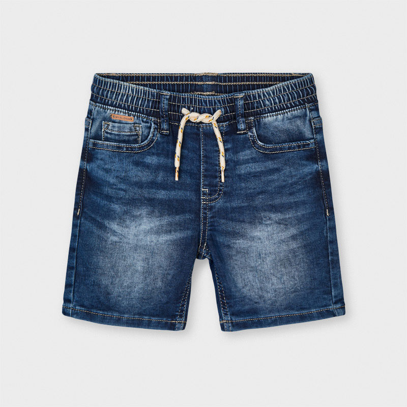 Mayoral Mayoral Soft Denim Jogger Shorts
