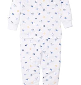 kissy kissy Kissy Kissy My First Hanukkah Pajama Set - Blue