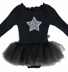 Petite Hailey Petite Hailey Baby Star Tutu Onesie - Charcoal